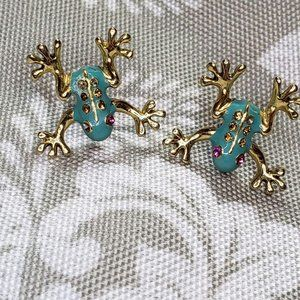 Betsy Johnson frog toad stud Earrings